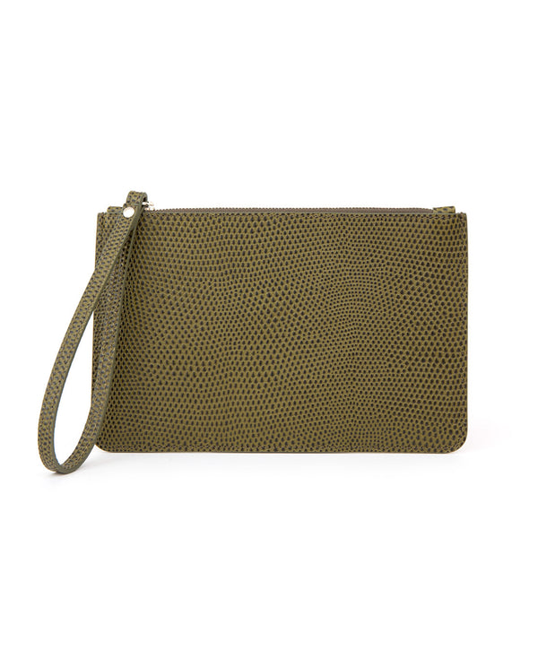 Leather Purse in lizard print