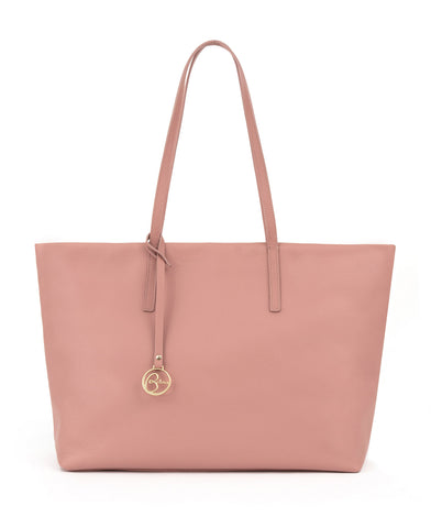 Image of Frida tote leather bag bubblegum pink