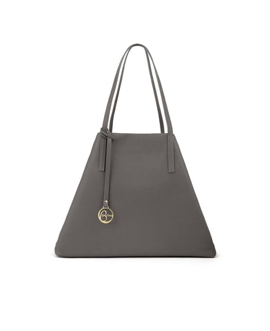 Image of Frida Tote Leather Bag asphalt grey