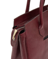 Luigia Leather Bag Lizard Print burgundy