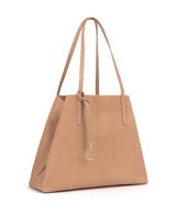 Frida Tote Leather Bag Suede Blush