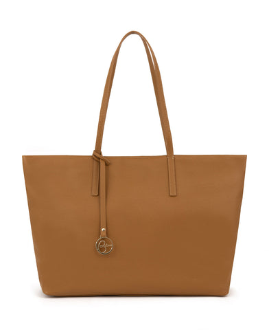 Image of Frida tote leather bag tan