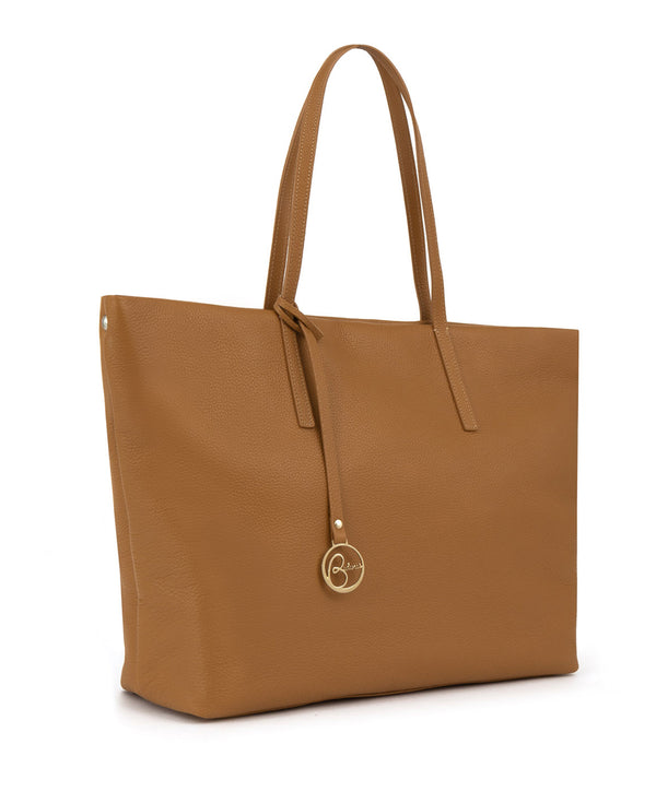 Borsa tote Frida in pelle tan