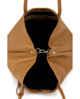 Frida tote leather bag tan