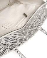 Luigia Leather Bag Lizard Print black and white