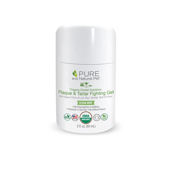 Organic Dental Solutions Plaque & Tartar Fighting Gel (Clean Mint) - Pure and Natural Pet