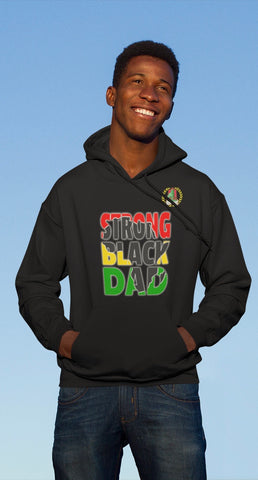 STRONG BLACK DAD HOODIE