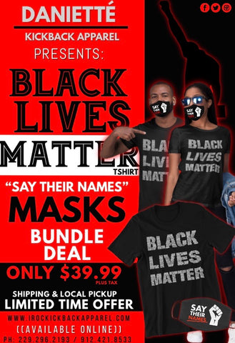 BLM TEE + SAY THEIR NAMES MASK BUNDLE
