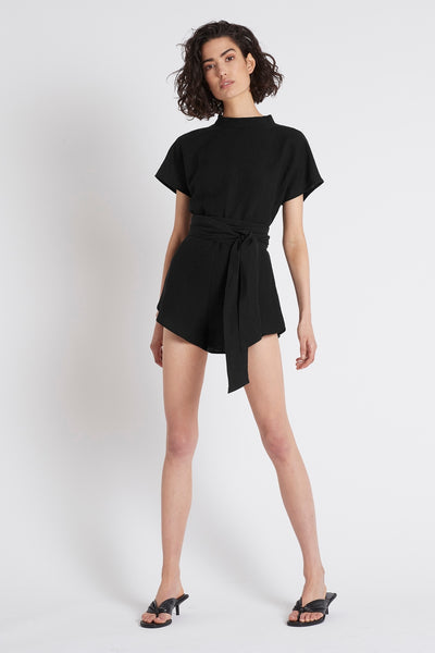 silk linen playsuit made in australia