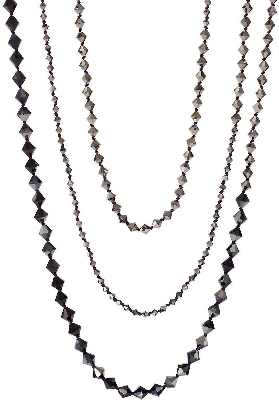 FLAPPER NECKLACE, HEMATITE