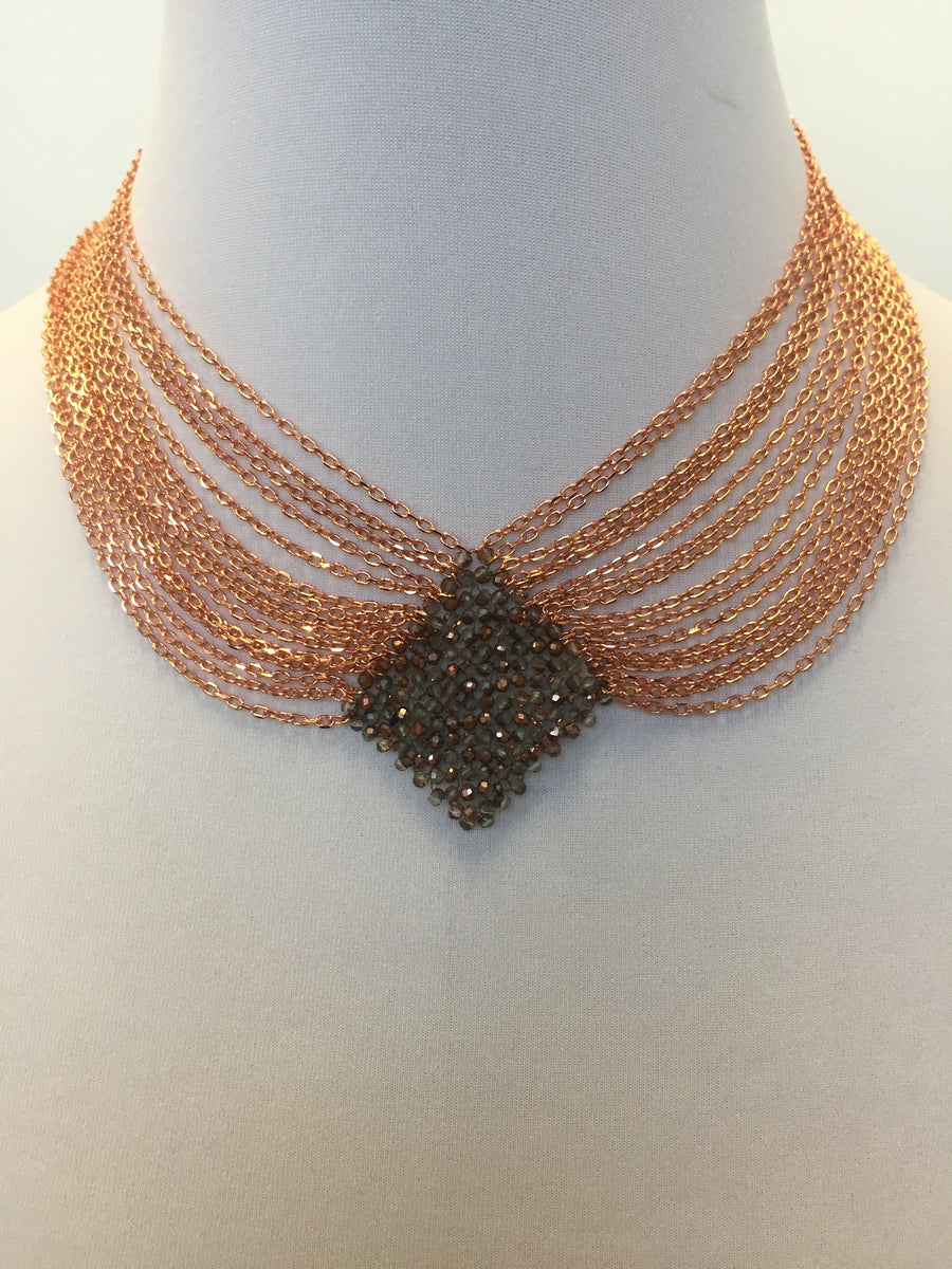 Cella Necklace in Rose Gold