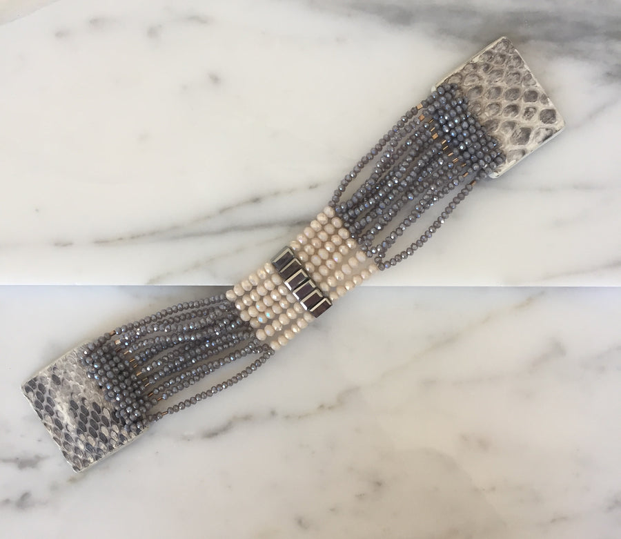 "Art Deco Cuff 1"" in Dusk"