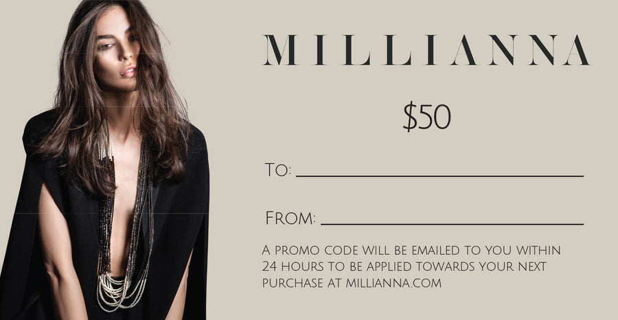 MILLIANNA Gift Card, $50