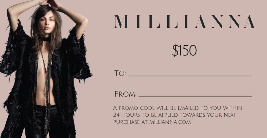 Millianna Gift Card, $150