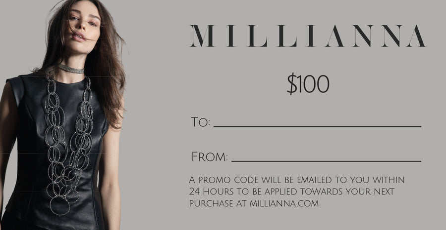MILLIANNA Gift Card, $100