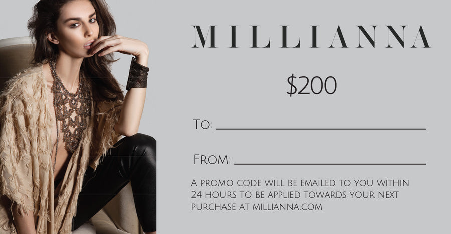 Millianna Gift Card, $200