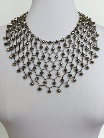 VICTORIA BIB, Antique Silver