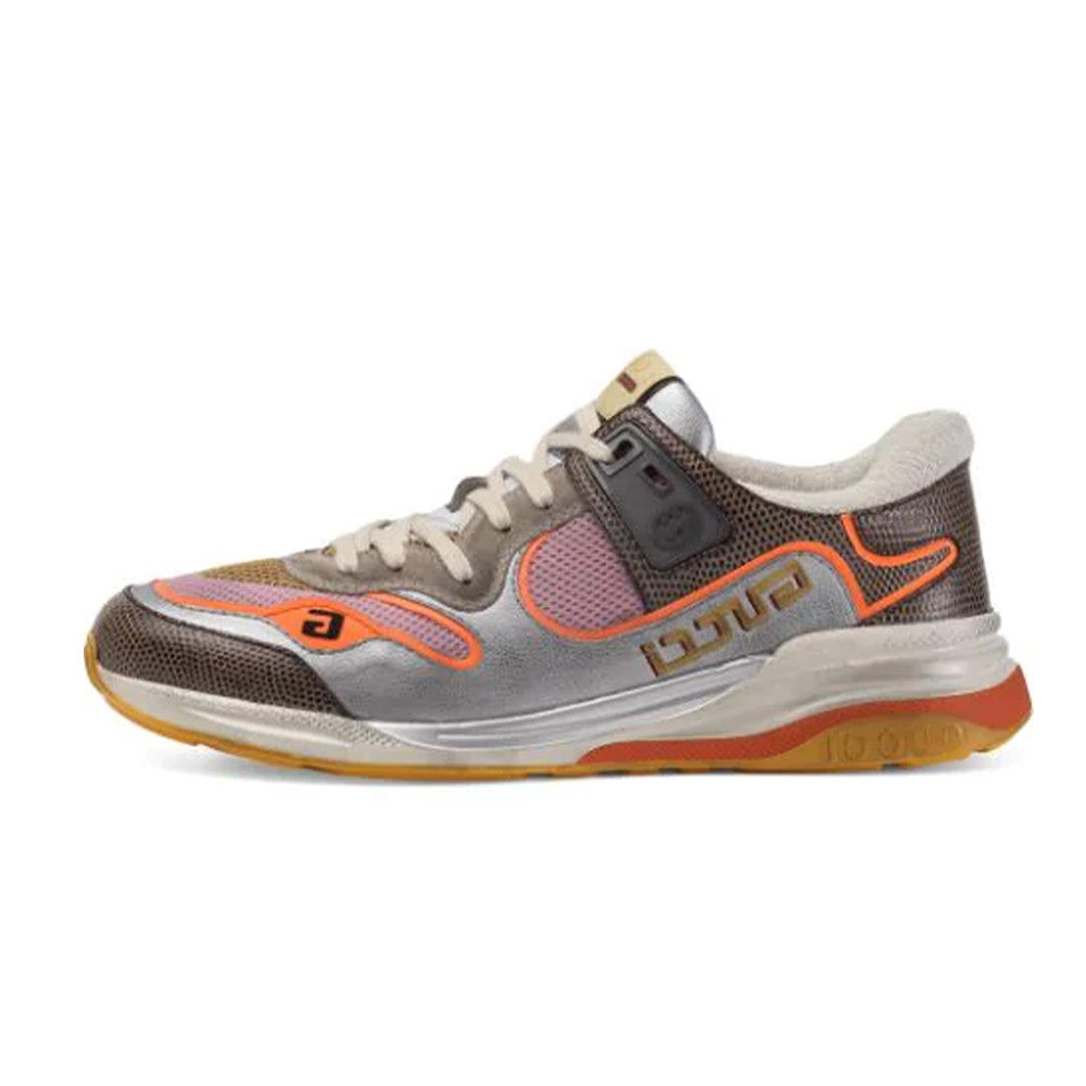 Multicolor Men's Silver And Multicolor Ultrapace Sneakers In Grey