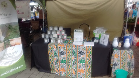 Maisha Tea Table Goldstream Station James Bay Farmers Market