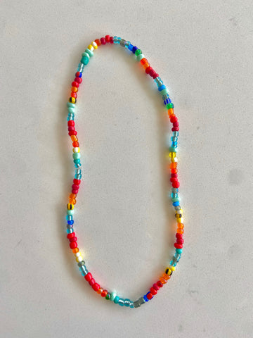 Rainbow Glassbead Choker Necklace