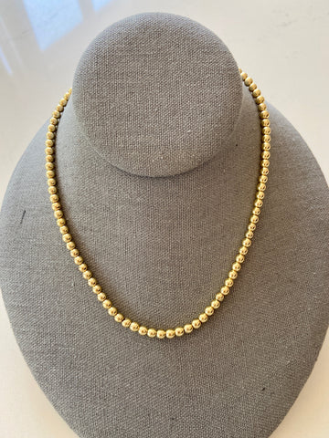 4mm 14k Gold Filled Beaded Necklace
