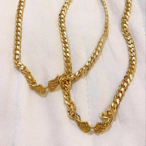 14K Gold Angel Cuban Chain