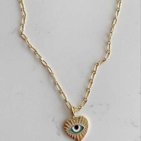 18K Gold Evil Eye Chain