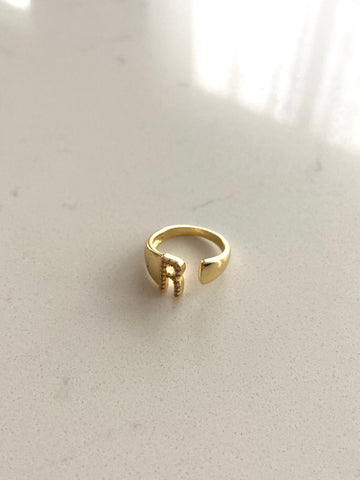Gold Filled Adjustable Initial Ring