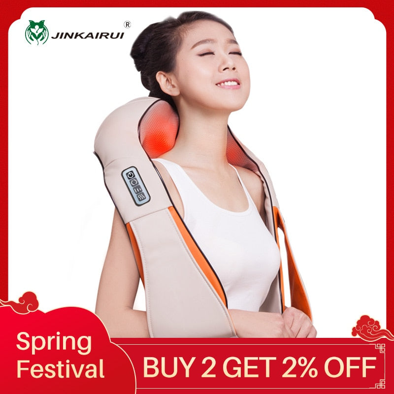 Heat Massage Electric Pain Neck and Shoulder Multi-function Massagem