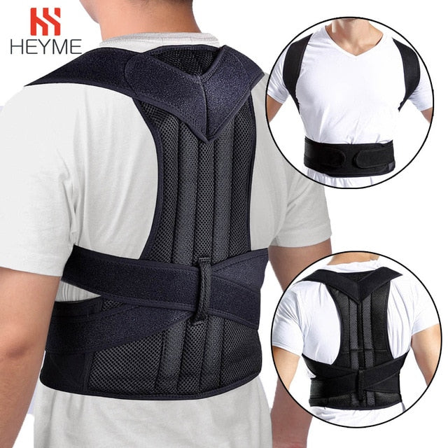 Back Posture Corrector Shoulder Lumbar Brace Spine Support Belt