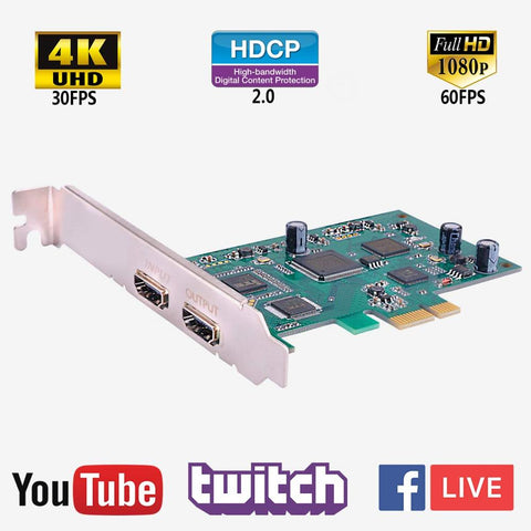 Capture Card Live Streaming HD 1080P 60FPS