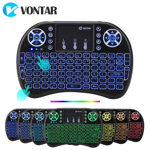 VONTAR i8 Wireless Keyboard  i8+ 2.4GHz  Air Mouse Touchpad Android TV BOX  Mini PC