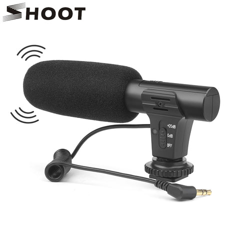 SHOOT 3.5mm Stereo Camera Microphone