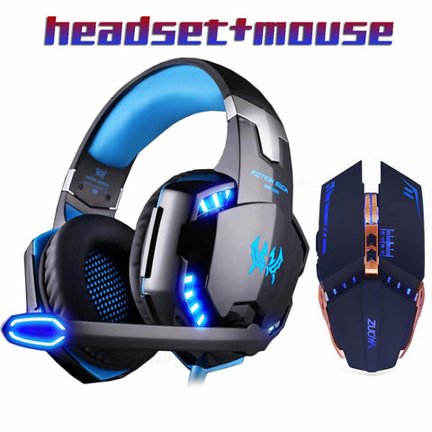 DEO Gaming Headset Headphones & Mouse