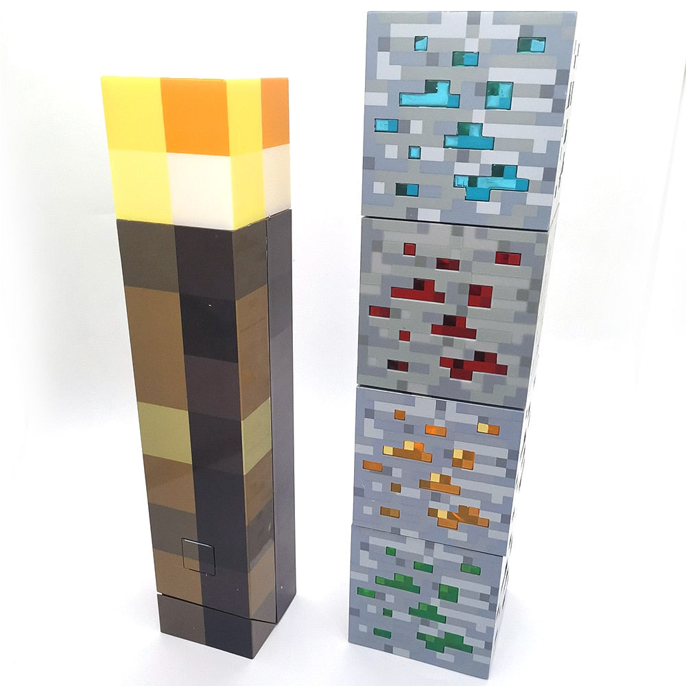 Brownstone Torch and Redstone and Lapis Ore Lamps - AzraTec