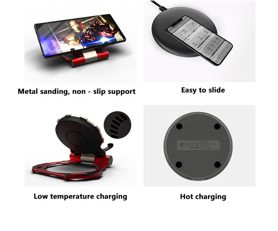 Arc Reactor  QI  Fast Charging Wireless Charger Stand - AzraTec