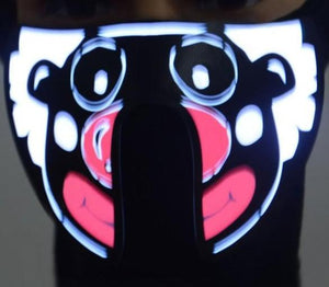👹 Sound Avtivated LED Rave Mask - AzraTec
