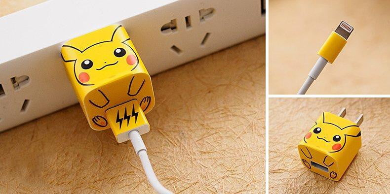 Pikachu iPhone Charger Stickers - AzraTec