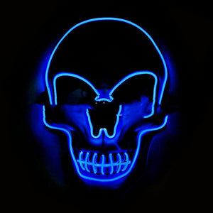 💀 Glowing LED Skull  Halloween Mask - AzraTec