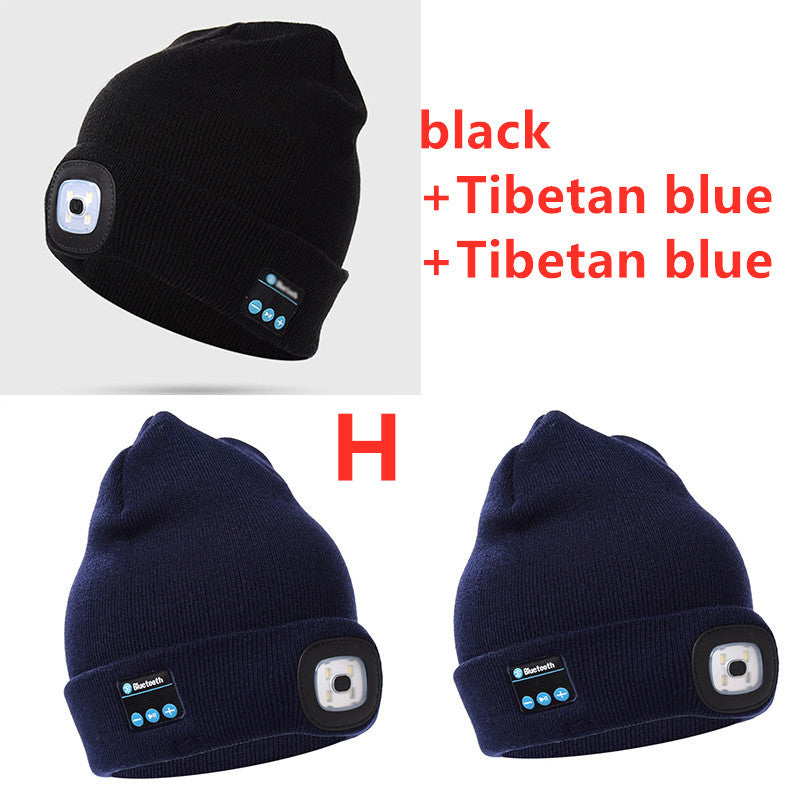 Bluetooth LED Hat Wireless Smart Cap Headset Headphone - AzraTec