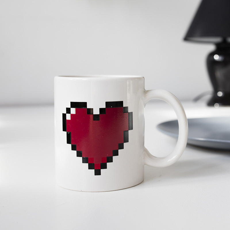 Magic Pixel Heart Mug - AzraTec