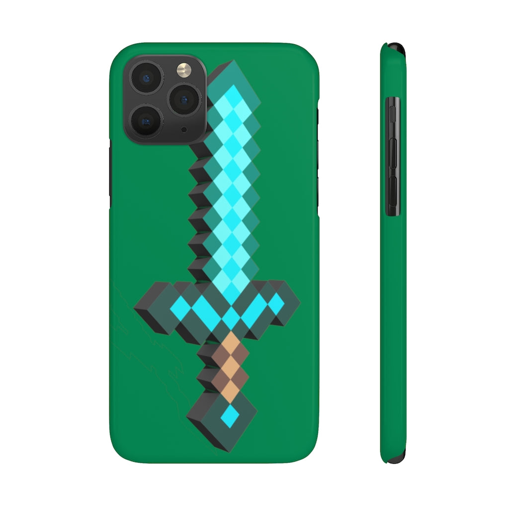 Minecraft Sword Slim Matte Phone Cases - AzraTec
