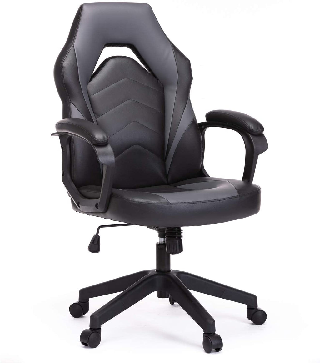 Leather Racing Gaming Chair  with Adjustable Height and Padding Armrest - AzraTec
