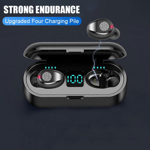 Bluetooth V5.0 Wireless Headphones Stereo Sport Headphones Earbuds 2000mAh Power for iPhone Xiaomi - AzraTec