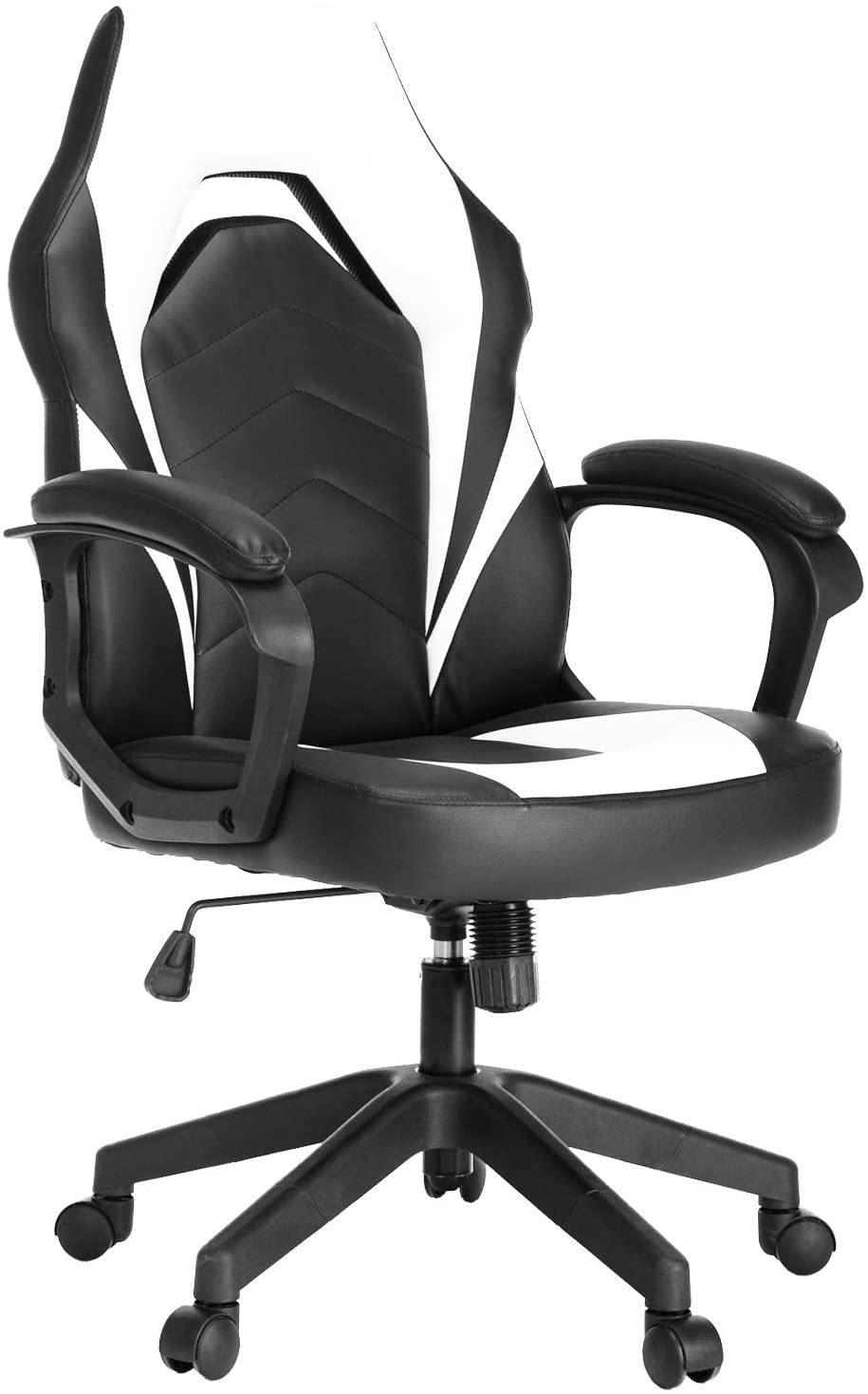 Racing Gaming Chair Executive Bonded Leather Computer Office Chair with Adjustable Height and Padding Armrest - AzraTec