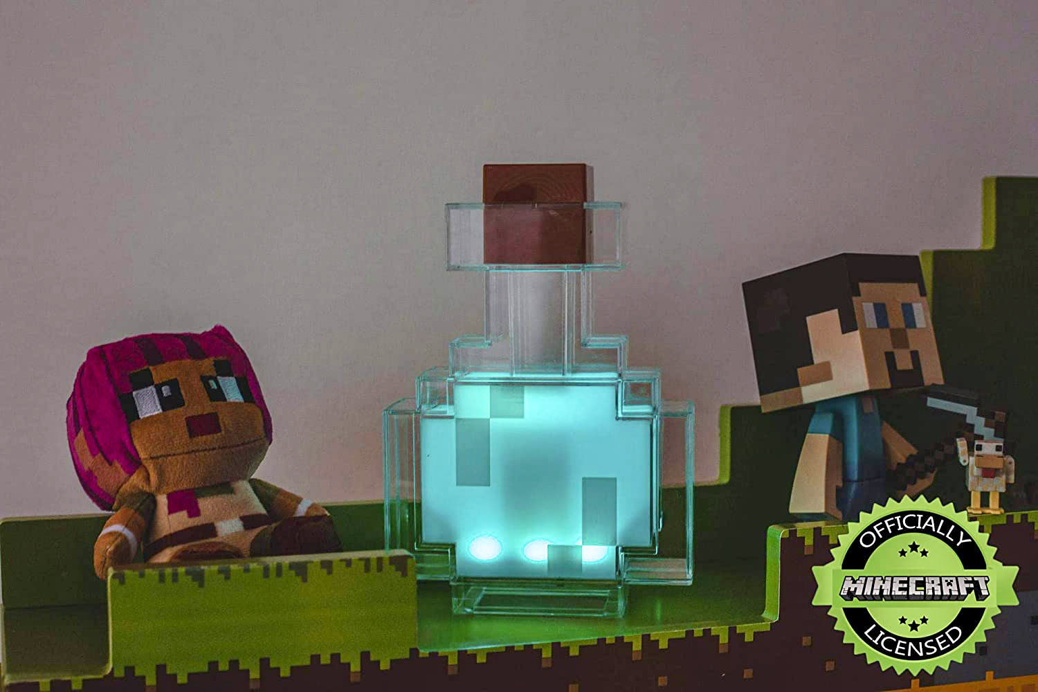 Minecraft  Miner's Colour Changing Potion Bottle LED Lamp - AzraTec