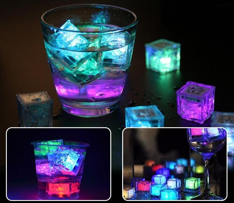 3Pcs Luminous Light-Up Party LED Ice Cubes For Special Events - AzraTec