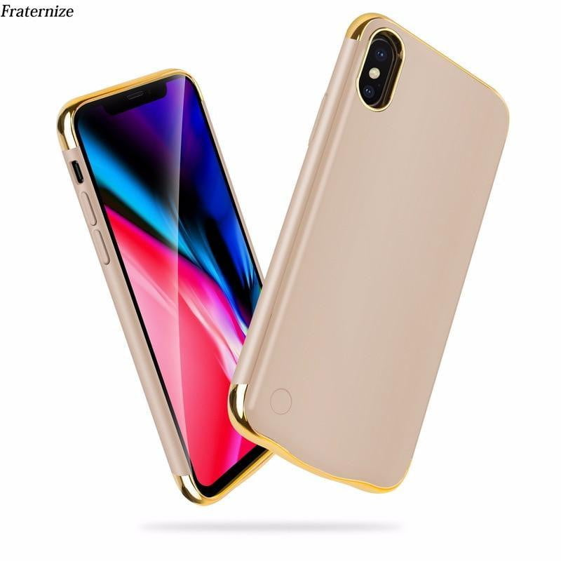 Slim Plating shockproof Battery Charger Case For iPhone XR XS XS Max - AzraTec
