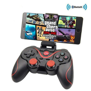Bluetooth X3 Wireless Controller T3 Gamepad With Stand Holder For PC Android  and PS3 Console - AzraTec