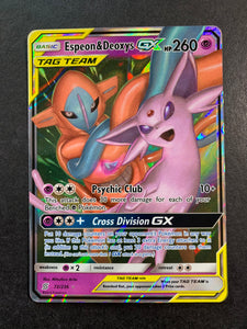 Espeon & Deoxys GX - 72/236 Ultra Rare (Tag Team) Sun & Moon: Unified Minds